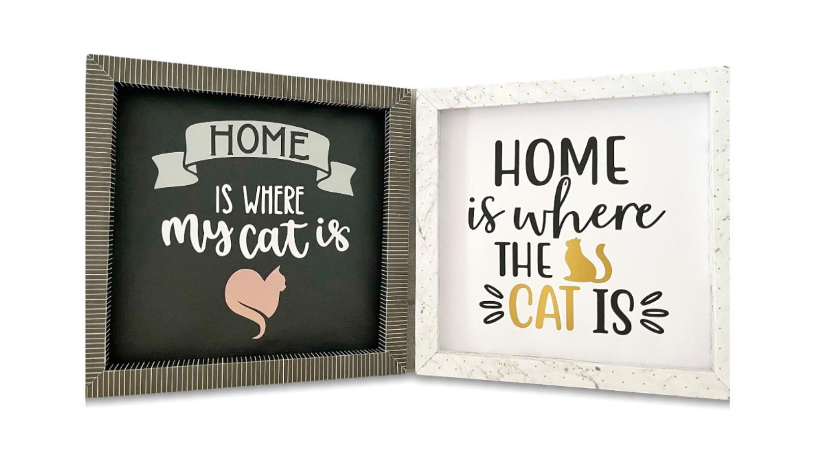 Stilvolle Wanddekoration für Katzenfreunde