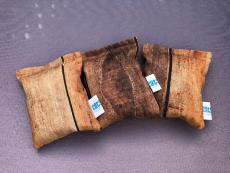 Spielkissen Holzwand Braun (Dinkelspelz / Baldrian)