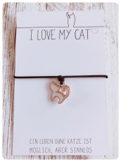 Wunscharmband Little Cat für Katzenfreunde