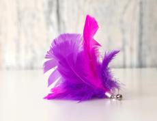 Feder-Spielanhänger Purple-Pink