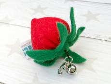 Filz Spielanhänger Strawberry