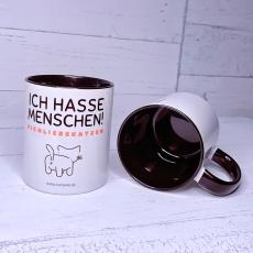 Tasse Ich hasse Menschen #ichliebekatzen