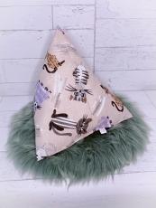 Deko Pyramidenkissen Katzen natur-color