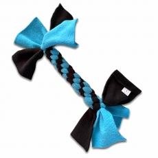 XL Fleece Zergel für Katzen (türkis-schwarz)