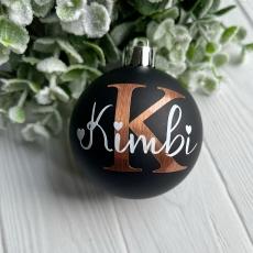 Weihnachtskugel mit Namenswunsch