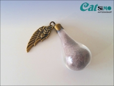 Wishbottle Lovewings, Bronze ~ Tierhaarschmuck