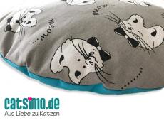 Katzenkissen Meow Ø 38 cm
