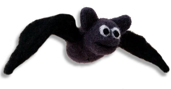 Deko Fledermaus aus Filz