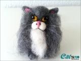 Deko Katze Flauschi aus Filz