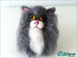 Katze Flauschi aus Filz