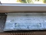 Fensterbankauflage Holzwand (Liegekissen)