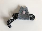 Kopfhörer-Halter Katze aus Filz