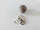 """Glaskugel """"Paws"""" (Ø 2 cm), Silber ~ Tierhaarschmuck (Neu!)"""