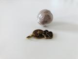 "Glaskugel ""Paws""  (Ø 2 cm), Bronze ~ Tierhaarschmuck (Neu!)"