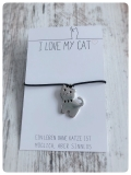 Wunscharmband Mietzi für Katzenfreunde