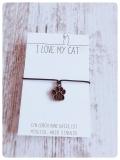 Wunscharmband Paws für Katzenfreunde (Bronze)
