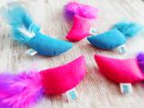Filz Spielmaus Feathers mit Baldrian