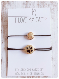 Elastisches Armband Paws für Katzenfreunde (Gold)