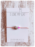 Wunscharmband Love Paws für Katzenfreunde (Rosè)