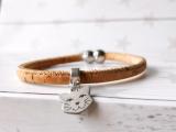 Kork Armband Katzenkopf mit Magnetverschluss