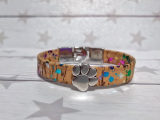 Kork Armband Rainbow Paw mit Knebelverschluss