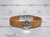 Kork Armband Nature Paw mit Knebelverschluss
