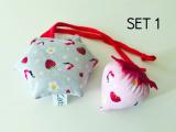 2er Spar-Set Stinke-Erdbeere & Hexagon Schmusekissen