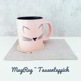Mug Rug Tassenteppich (Untersetzer) für Katzenfans