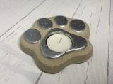 Deko Teelichthalter Pfote aus Beton