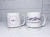 Logo-Tasse für Katzenfreunde