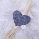 Katzenspielzeug Little Felty Heart (grau)