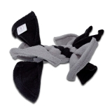 Fleece Zergel für Katzen (grau-schwarz)