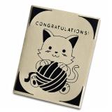 """Grußkarte Katzen """"Congratulations"""""""