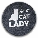 Filz Untersetzer Cat Lady