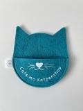 Filz Aufbewahrung Katzenkopf (personalisiert)