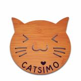 Holz Untersetzer für Katze & Mensch (personalisiert)