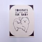 "Grußkarte Hunde ""New Fur Baby"""