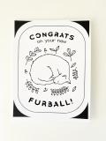 """Grußkarte Katzen """"New Furball"""""""