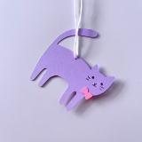 Geschenkanhänger Katze mit Schleife (6er-Set)