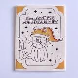 Grußkarte Katzen All I want... (Christmas)