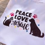 Einkaufstasche Peace, Love Rescue (Unikat)