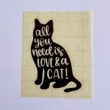 Vinylaufkleber Love & a Cat