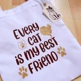 Einkaufstasche Cat Best Friend (Unikat)