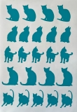 """Vinyl Stickerbogen """"Katze"""" (23tlg.)"""