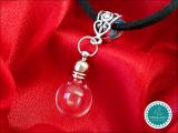 Samt Halskette Mini Glaskugel ~ Tierhaarschmuck