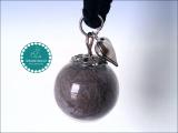 Glaskugel (Ø 1,8 cm), Silber ~ Tierhaarschmuck