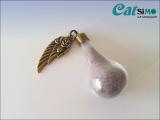Wishbottle Lovewings, Bronze ~ Tierhaarschmuck