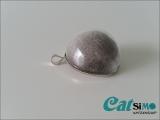 Medaillon, Amulett (Ø 2,5 cm), Silber ~ Tierhaarschmuck