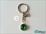 Schlüsselanhänger Glas Cabochon