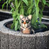 Deko-Kätzchen aus Filz (Wunschfarbe)